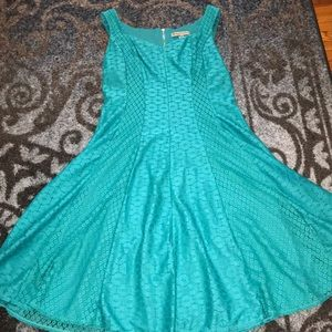 Turquoise Danny and Nicole fit and flare dress